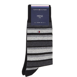 Two-Pack Striped Socks Black