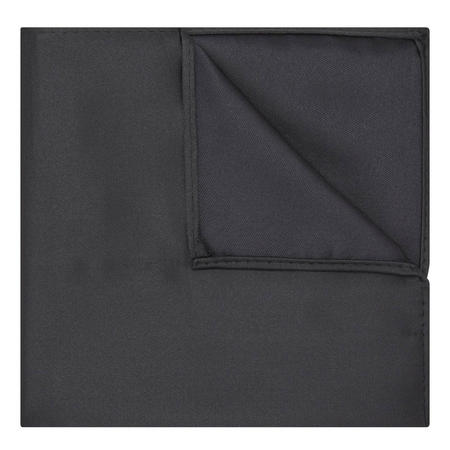 Uomo Microfibre Pocket Square Black
