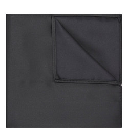 Uomo Microfibre Pocket Square Black