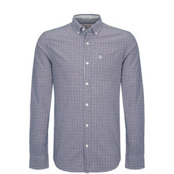 Long Sleeve Belan Gingham Shirt Navy