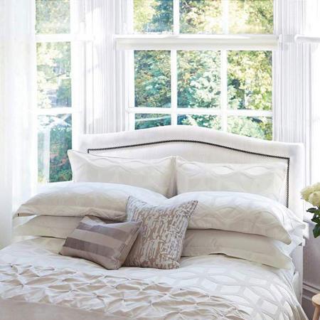 Lattice Oxford Pillowcase Light Grey