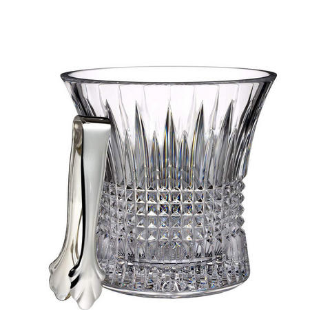 Lismore Diamond Ice Bucket With Tongs