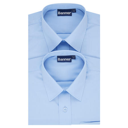 Boys Two-Pack Long Sleeve Shirts Pale Blue