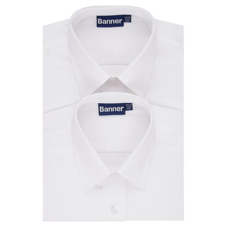 Boys Two-Pack Long Sleeve Shirts White