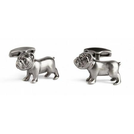 Bulldog Cufflink Silver