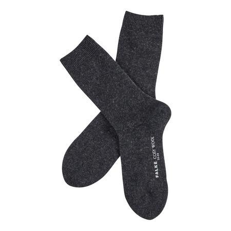 Cosy Wool Ankle Socks Dark Grey
