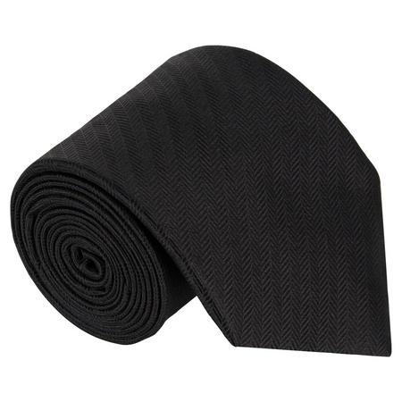 Herringbone Tie Black