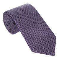 Geometric Pattern Silk Tie Navy