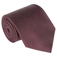 Geometric Pattern Silk Tie Wine
