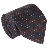 Dot Pattern Silk Tie Navy