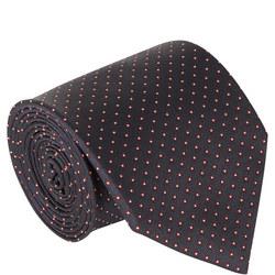 Dot Pattern Silk Tie Navy