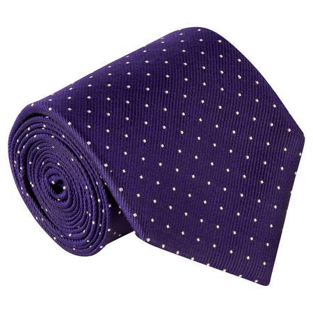 Ottoman Dot Silk Tie Navy