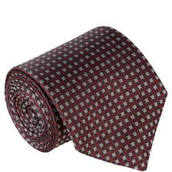 Claret Pattern Silk Tie Wine