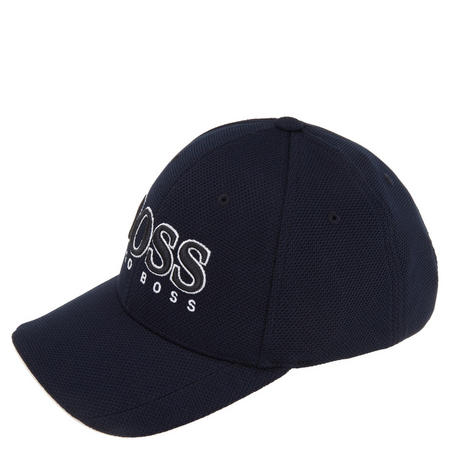 Textured Logo Cap Navy