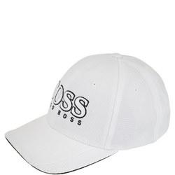 Textured Logo Cap White