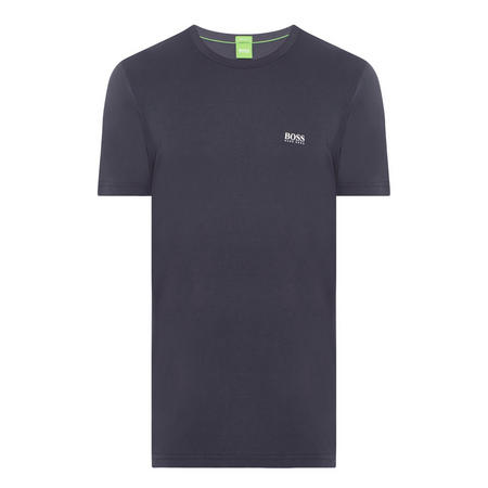 Crew Neck Logo T-Shirt Navy