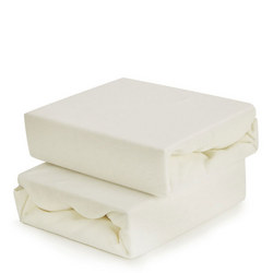 2-Pack Fitted Sheets for Moses Basket Cream