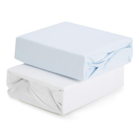 2-Pack Fitted Sheets for Cot Blue