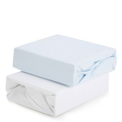 2-Pack Fitted Sheets for Cot Bed Blue