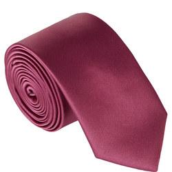 Skinny Microfibre Tie Pink