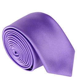 Uomo Skinny Microfibre Tie Purple