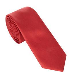 Skinny Microfibre Tie Red