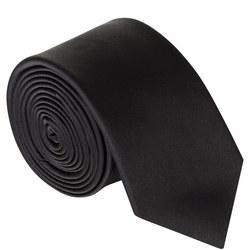 Uomo Solid Skinny Tie Black