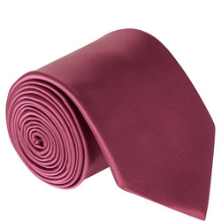 Uomo Microfibre Tie Pink