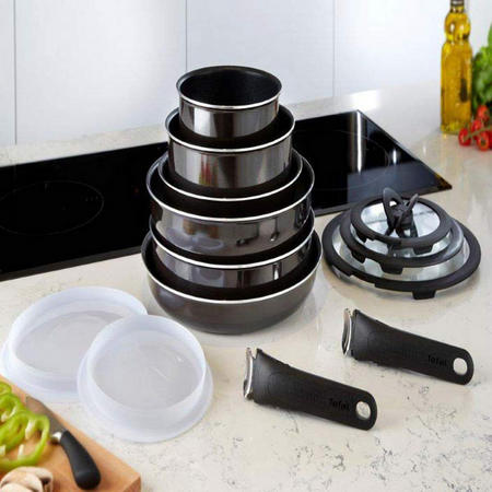 Induction Cookware Set Of 13 Black