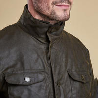 Ogston Waxed Jacket Green