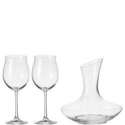 Decanter & 2 Glass Set 3 Piece Set