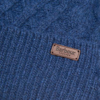 Cable Knit Beanie Hat Blue