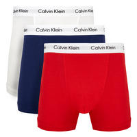 Three-Pack High Rise Trunks Red