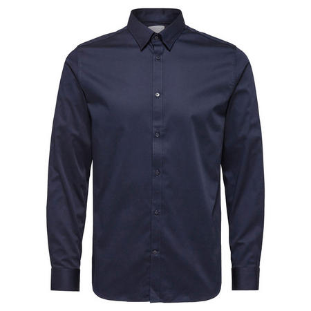 Travis Long Sleeve Shirt Navy