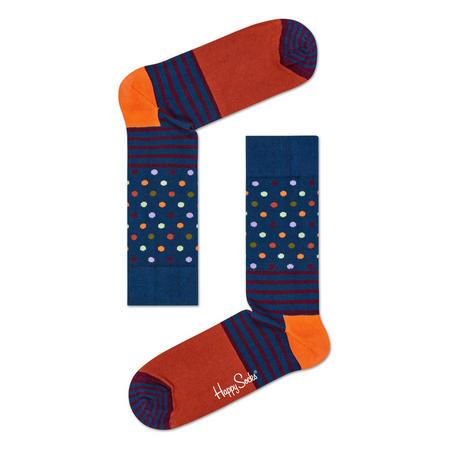 Stripes & Dots Socks Orange