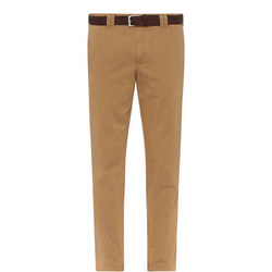 Roma Belted Chinos Camel