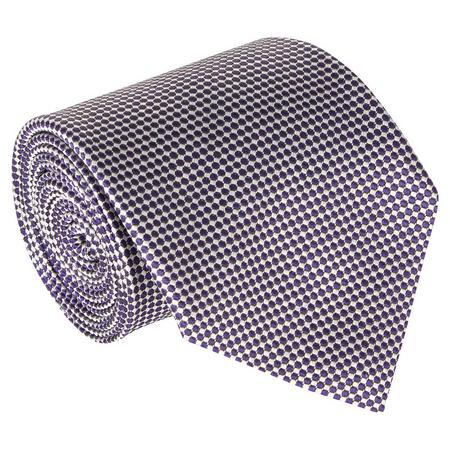Geometric Circle Silk Tie Purple