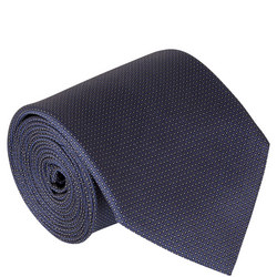 Pinpoint Pattern Silk Tie Blue