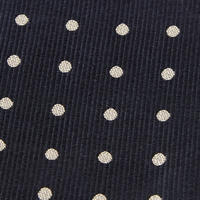 Polka Dot Silk Tie Navy