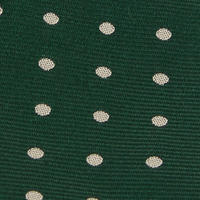 Polka Dot Silk Tie Green