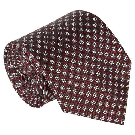 Checkboard Pattern Tie Red