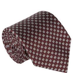 Checkboard Pattern Tie Red