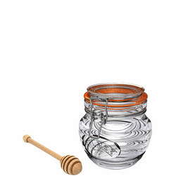 CLIP TOP 0.3LTR HONEY POT WITH DRIZZLER
