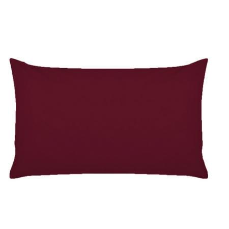 300 Thread Count Oxford Pillowcase Dark Red