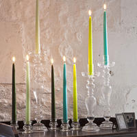 Tapered Candle Pearl Grey