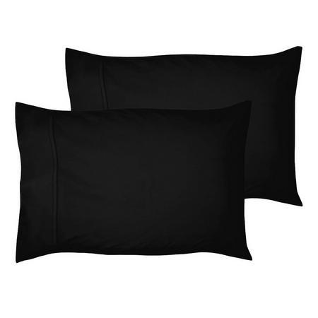 200 Thread Count Egyptian Cotton Housewife Pillowcase Black
