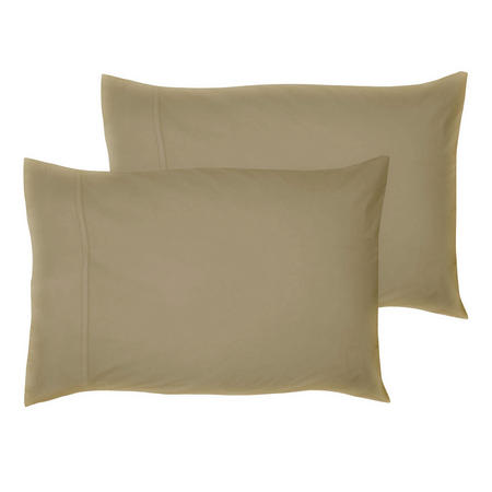200 Thread Count Egyptian Cotton Housewife Pillowcase Brown