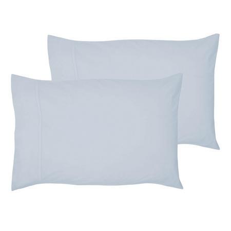 200 Thread Count Egyptian Cotton Housewife Pillowcase Light Blue