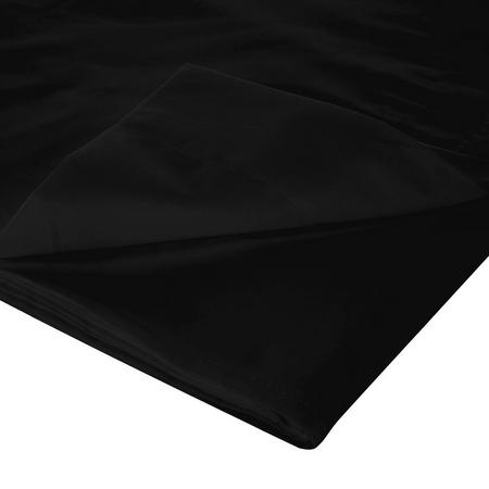 200 Thread Count Egyptian Cotton Flat Sheet Black