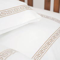 White Collection Oslo Duvet Cover Set Taupe